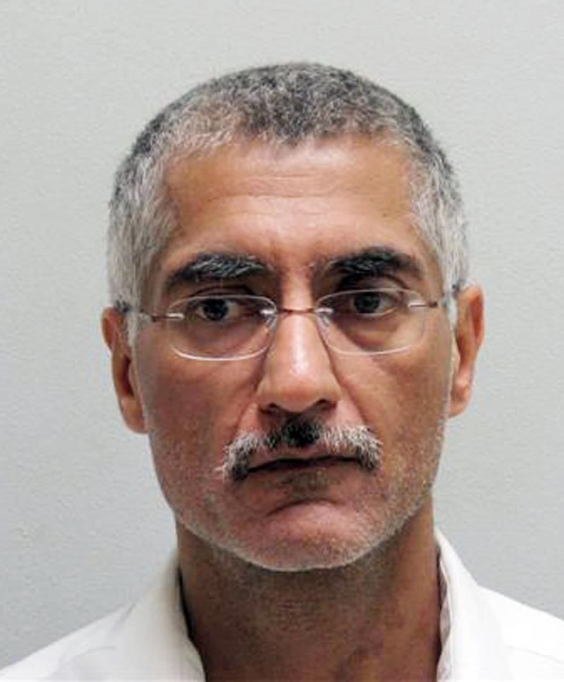 File - This file photo released Aug. 18, 2009, by the Pulaski County Sheriff's Office shows  Dr. Randeep Mann.  Mann, who was sentenced to life in prison for a 2009 bombing that nearly killed the head of the state medical board should be re-sentenced on some convictions, a federal appeals court ruled Thursday, Dec. 6, 2012. A jury convicted Mann, 54, in 2010 of conspiring ot use a weapon of mass destruction and other charges in the Feb. 4, 2009, attack on Dr. Trent Pierce.  (AP Photo/Pulaski County Sheriff's Office, file)