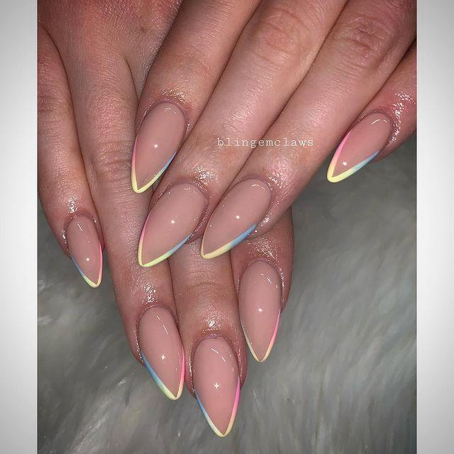 """<p>Not for beginners, a pastel ombre like this one looks simply stunning (if you can pull it off).</p><p><a href=""""https://www.instagram.com/p/B4zUrD0ALxd/&hidecaption=true"""" rel=""""nofollow noopener"""" target=""""_blank"""" data-ylk=""""slk:See the original post on Instagram"""" class=""""link rapid-noclick-resp"""">See the original post on Instagram</a></p>"""