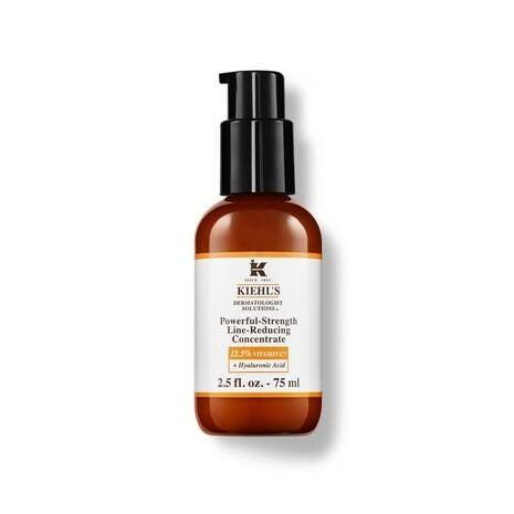 """Using the right serum can really transform your skincare routine. I've struggled to find a product that ticks every box but think I've found my match with this concentrate. It's a powerful mix of stabilised vitamin C for super glowy skin, hyaluronic acid for deep hydration and L-ascorbic acid for reducing the appearance of fine lines, wrinkles and uneven texture. Even better, it has antioxidant properties that protect skin throughout the day. Apply before you add your SPF for a tough barrier between your face and everyday aggressors. <br><br><strong>Kiehl's</strong> Powerful-Strength Line-Reducing Concentrate, $, available at <a href=""""https://www.kiehls.co.uk/skin-care/category/facial-oils-serums/powerful-strength-line-reducing-concentrate/UK-00113-KHL.html"""" rel=""""nofollow noopener"""" target=""""_blank"""" data-ylk=""""slk:Kiehl's"""" class=""""link rapid-noclick-resp"""">Kiehl's</a>"""