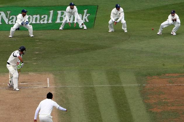 Dravid broke Mark Waugh's (181 catches from 128 Tests) record of most catches in the longest format of the game when he caught Tim McIntosh at third slip off Zaheer Khan on day four of the third Test against New Zealand at the Basin   Reserve on 6 April 2009. He finishes his career with 210 catches in Test cricket.
