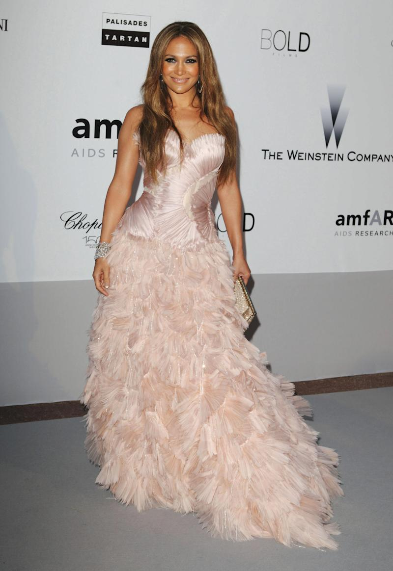 We've seen few examples of the full ballgown look on Lopez over the years, and here, it's made all the more unfamiliar by her hair let loose. Jennifer Lopez in Roberto Cavalli at the Cannes Film Festival in Cap d'Antibes, France, May 2010. Photo by Getty Images.