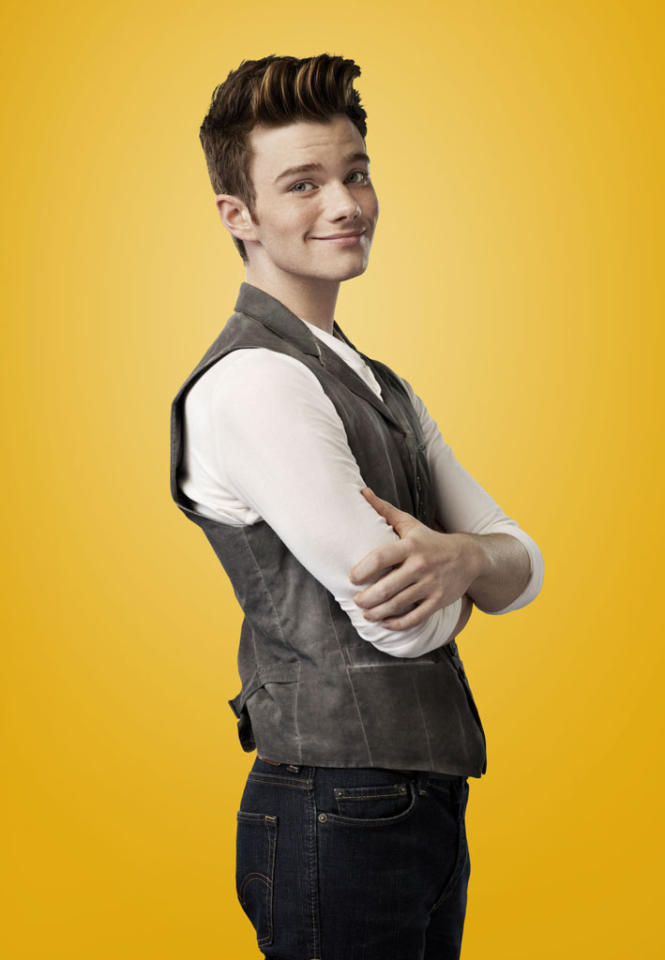 "Chris Colfer as Kurt in ""Glee."""
