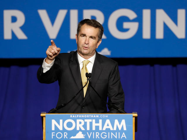 Virginia Governor-elect Ralph Northam speaks after his election night victory at the campus of George Mason University in Fairfax, Virginia, Nov. 7, 2017. (Aaron Bernstein / Reuters)