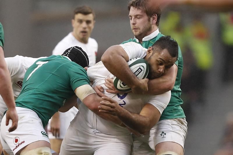 Billy Vunipola believes England were not able to adapt to the Irish choke tackle: Getty
