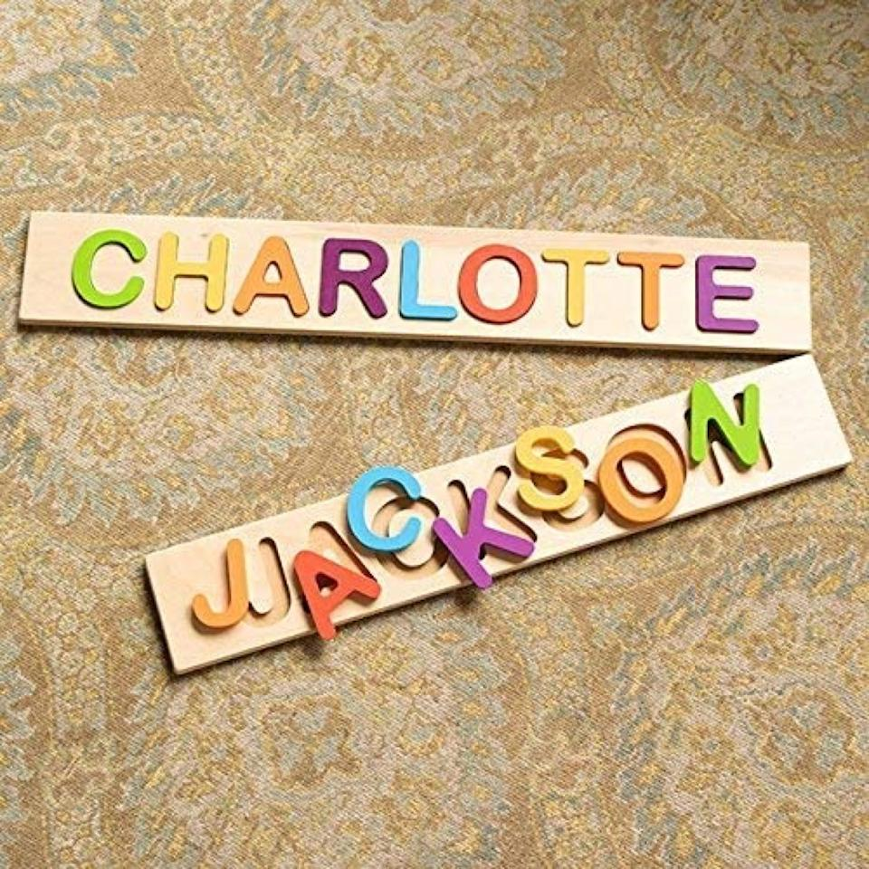 Customized name puzzle for toddlers