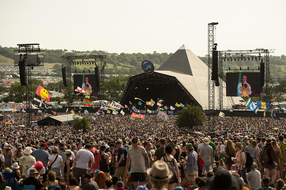 Glastonbury's iconic Pyramid stage photographed in 2019 (Photo: OLI SCARFF via Getty Images)
