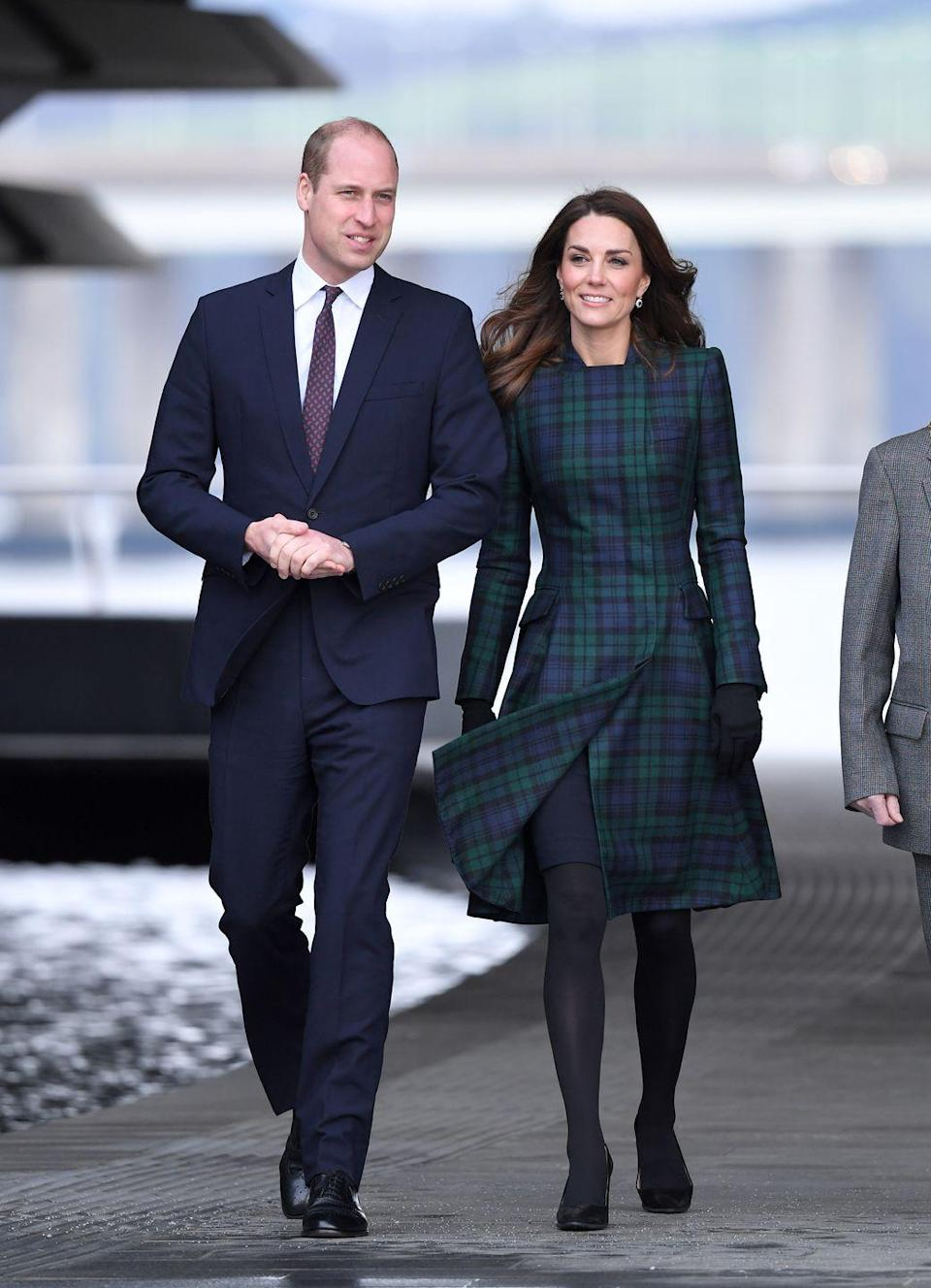 """<p>Here she is in it again<a href=""""https://www.townandcountrymag.com/style/fashion-trends/a26063653/kate-middleton-va-dundee-scotland-plaid-coat-dress-photos/"""" rel=""""nofollow noopener"""" target=""""_blank"""" data-ylk=""""slk:at the opening of the V&A Dundee in Scotland."""" class=""""link rapid-noclick-resp""""> at the opening of the V&A Dundee in Scotland.</a></p>"""