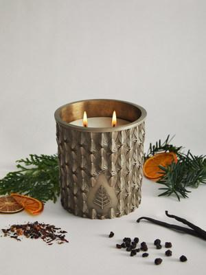 Hand-poured Bronze Votive Candle in new limited-edition scent Alpine Retreat