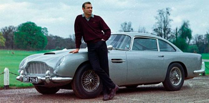 Connery with the iconic DB5 (Credit: Eon)