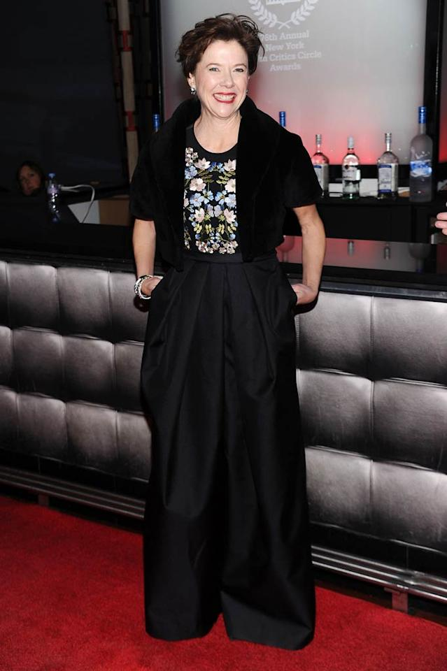"She may win an Oscar in the coming months thanks to her perfect portrayal of a lesbian wife and mother in ""The Kids Are All RIght,"" but Annette Bening won't be winning any fashion awards if she thinks these over-sized, Stella McCartney pants are pretty. Dimitrios Kambouris/<a href=""http://www.wireimage.com"" target=""new"">WireImage.com</a> - January 10, 2011"