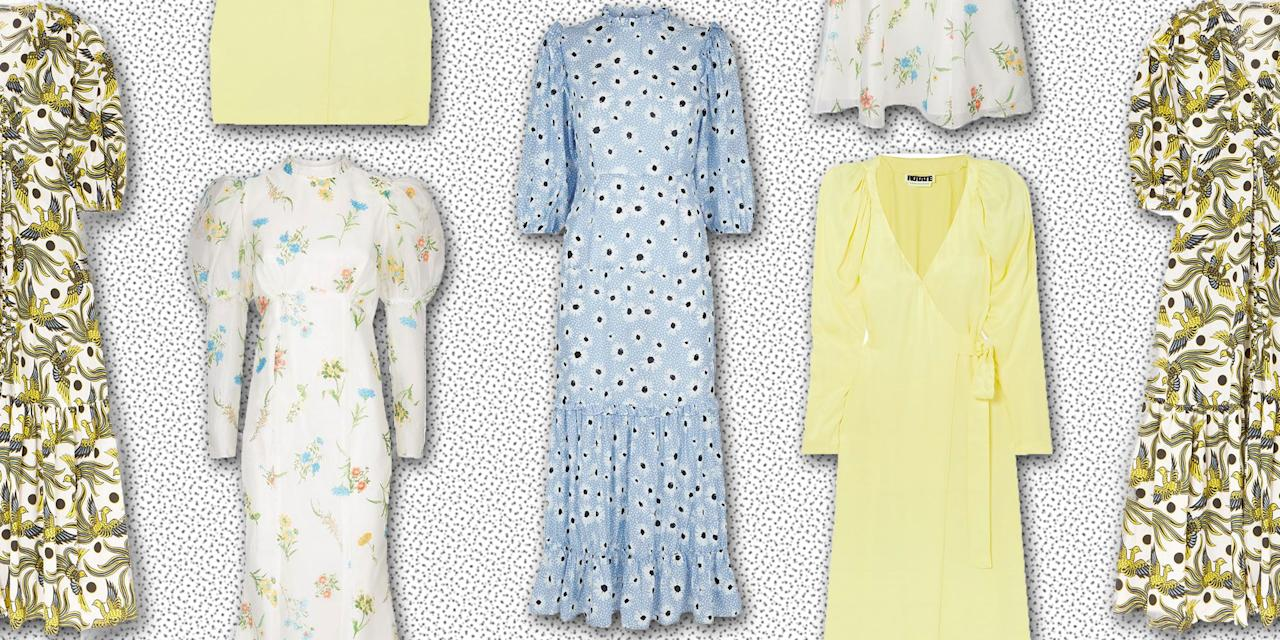 <p>It might still be a little dicey on the weather front, with warmer days swiftly interfered with by frosty winds, but that doesn't mean we can't daydream about a time where knee-length ruffles and sheer tulle sleeves will be acceptable attire. Here is ELLE's pick of the best Spring dresses to start stock-piling ready for the warmer months.</p>