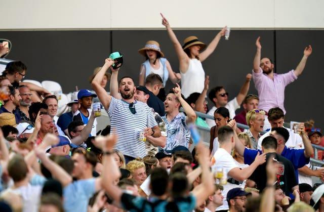 It was raucous crowd at the Oval