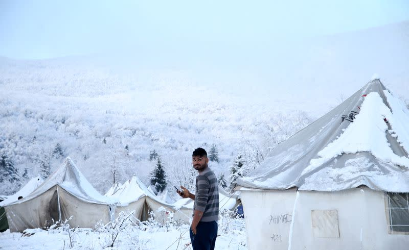 Migrants in Bosnia refuse to move from forest camp