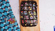 """<p>A chocolate traybake perfect for a birthday cake, celebration cake or something for a bake sale; it's a total crowd-pleaser!</p><p><strong>Recipe: <a href=""""https://www.goodhousekeeping.com/uk/food/recipes/a29319715/chocolate-cake-traybake/"""" rel=""""nofollow noopener"""" target=""""_blank"""" data-ylk=""""slk:Easy Chocolate Fudge Cake Traybake"""" class=""""link rapid-noclick-resp"""">Easy Chocolate Fudge Cake Traybake</a></strong></p>"""
