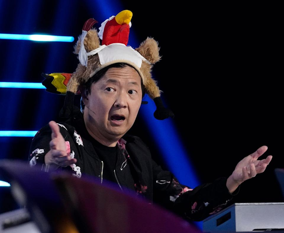 """Ken Jeong, wearing festive headgear for a pre-Thanksgiving episode of """"The Masked Singer,"""" will bring his unique panelist style to the upcoming Fox spinoff, """"The Masked Dancer."""""""