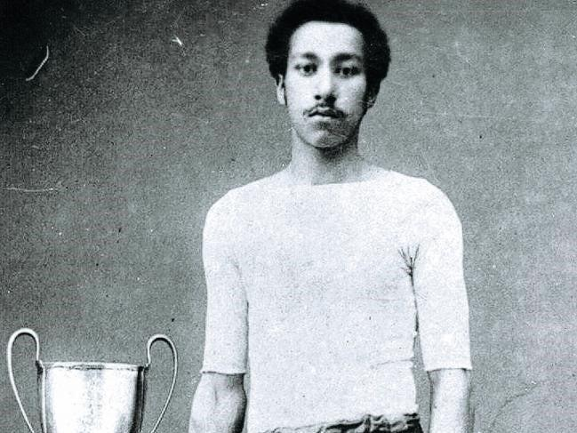 A decent all-rounder, Wharton also turned his hand to professional cricket in summer and was known for a period as the fastest man in the world (Arthur Wharton Foundation)