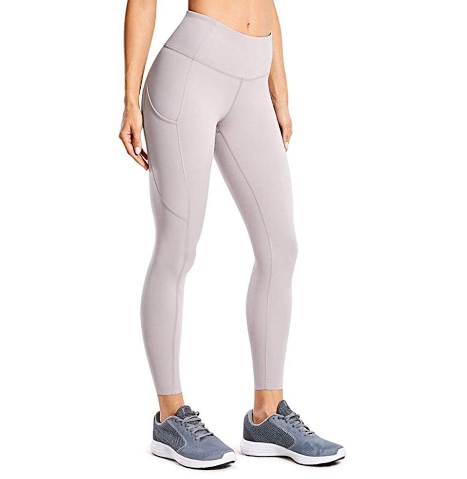 """<p><strong>Reviews & rating:</strong> 10,797 reviews, 4.6 out of 5 stars.</p> <p><strong>Key selling points:</strong> First of all, pockets. Secondly, these leggings are soft, breathable, and perfect for all workouts spanning running to yoga. But let's get back to the main event: pockets (that actually fit a large phone!). </p> <p><strong>What customers say:</strong> """"Oh-my-goodness... You so want these leggings. Soft, super stretchy, and the pockets are big and deep. My LG phone fits all the way into the pockets with room to spare. (5.7-inch display with case and close to 6x4.5 inches). I would say they are the best I have gotten so far. Squat-proof you really have to stretch them out to see through them. Even when you hold them up to the light. The only thing I don't like is they are not hemmed at the bottom. Just get them the price is awesome for what you get trust me."""" —<a href=""""https://amzn.to/2Q6Oy9V"""" rel=""""nofollow noopener"""" target=""""_blank"""" data-ylk=""""slk:Yep Yep"""" class=""""link rapid-noclick-resp""""><em>Yep Yep</em></a><em>, reviewer on Amazon</em></p> $28, Amazon. <a href=""""https://www.amazon.com/CRZ-YOGA-Stretchy-Leggings-Pocket-25/dp/B07WHQW1MS/ref="""" rel=""""nofollow noopener"""" target=""""_blank"""" data-ylk=""""slk:Get it now!"""" class=""""link rapid-noclick-resp"""">Get it now!</a>"""