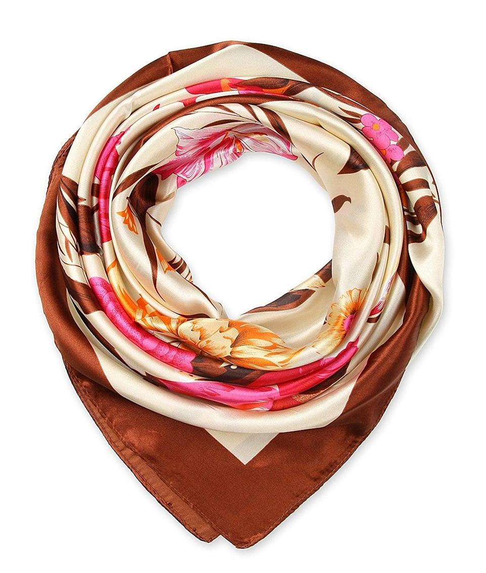 <p>If your mom loves scarves, she'll appreciate this <span>Silky Satin Option</span> ($9) that comes in over 27 different prints.</p>
