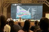 Akon announced the project in September 2020 to great fanfare and international media attention (AFP/Seyllou)