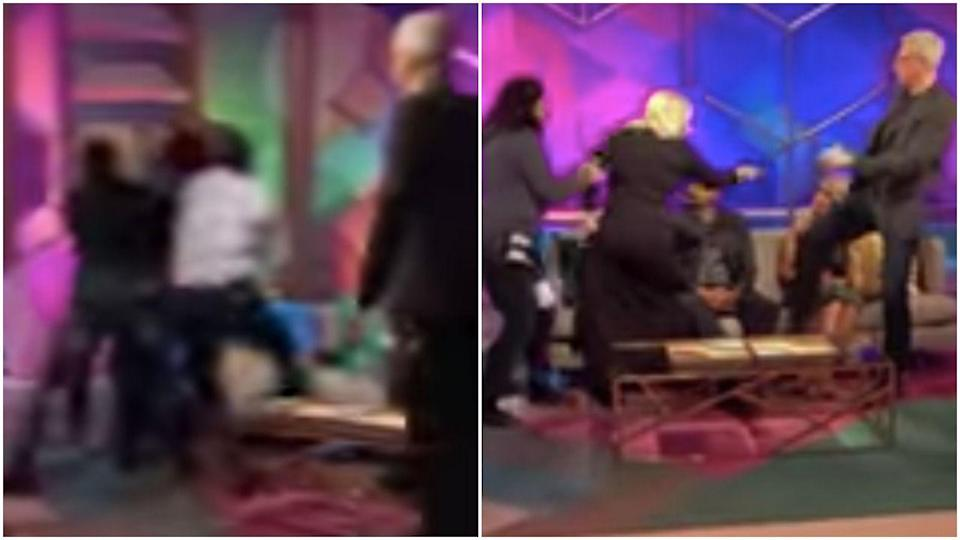 <p>I know these photos are blurry, but tragically cameras simply couldn't capture the MOVEMENT involved in Amber lunging at Farrah during a <em>Teen Mom </em>reunion special. Someone check on Dr. Drew!</p>