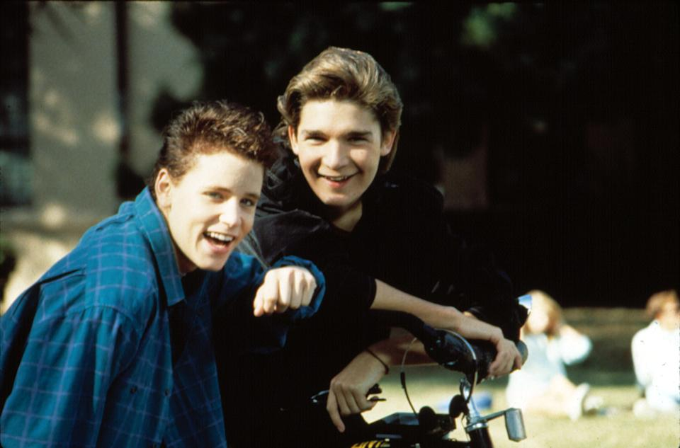 Corey Feldman and Corey Haim in 'License to Drive.' The two teen icons first met while auditioning for 'The Goonies' (Photo: 20th Century Fox Film Corp./Courtesy: Everett Collection)