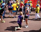 """<p>If I love running and you love running and I love you and you love me, then we might as well promise to <a href=""""https://www.runnersworld.com/uk/training/marathon/a776116/marriage-proposals-at-the-london-marathon-2018/"""" rel=""""nofollow noopener"""" target=""""_blank"""" data-ylk=""""slk:marry each other"""" class=""""link rapid-noclick-resp"""">marry each other</a> at a race finish line. It's no weirder than proposing at Disney World or on a random beach.</p>"""