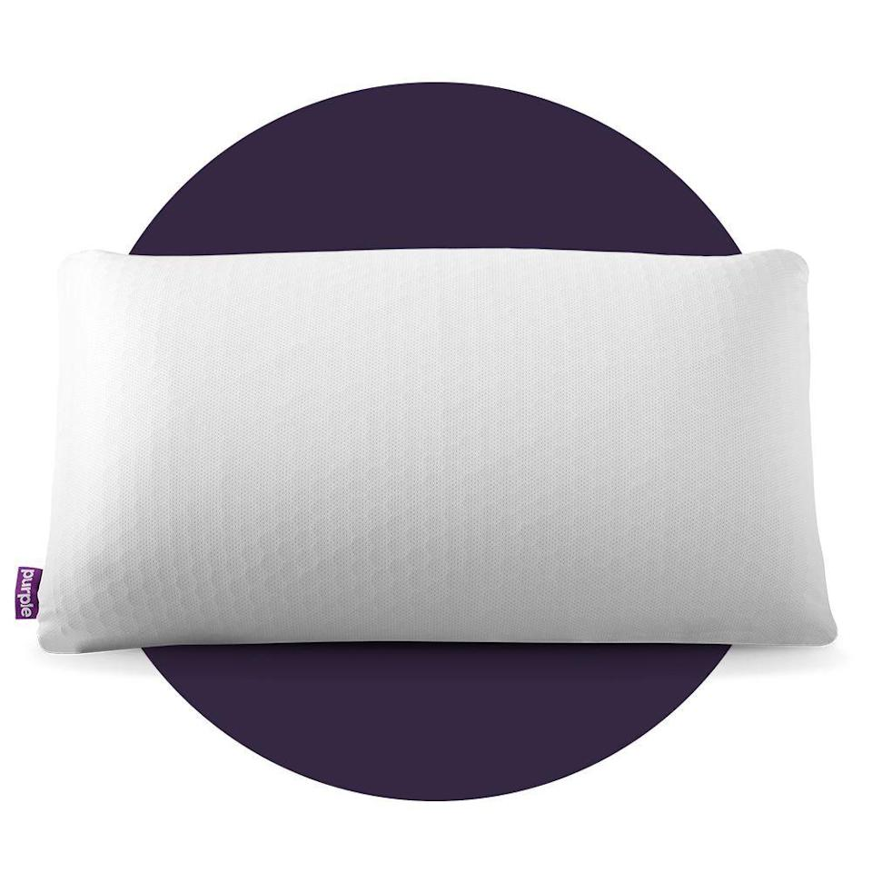 """<p><strong>Purple</strong></p><p>purple.com</p><p><strong>$159.00</strong></p><p><a href=""""https://go.redirectingat.com?id=74968X1596630&url=https%3A%2F%2Fpurple.com%2Fpillows%2Fharmony%2Fbuy&sref=https%3A%2F%2Fwww.bestproducts.com%2Flifestyle%2Fg34449251%2Fbest-of-the-best-2020%2F"""" rel=""""nofollow noopener"""" target=""""_blank"""" data-ylk=""""slk:Shop Now"""" class=""""link rapid-noclick-resp"""">Shop Now</a></p><p>The Purple Harmony Pillow has an incredibly interesting texture. It's springy and soft, thanks to its squishy latex core encapsulated in a flexible, hexagonal grid-shaped layer made of a proprietary polymer. </p><p>It's <a href=""""https://www.bestproducts.com/home/decor/a33574293/purple-harmony-pillow-review/"""" rel=""""nofollow noopener"""" target=""""_blank"""" data-ylk=""""slk:also very huggable"""" class=""""link rapid-noclick-resp"""">also very huggable</a>, though its form isn't malleable — it will retain its original shape no matter how you mold it in your sleep. This pillow does provide pretty significant push-back, making it better for back sleepers, stomach sleepers who prefer a lofty pillow, or side sleepers with broad shoulders.</p>"""