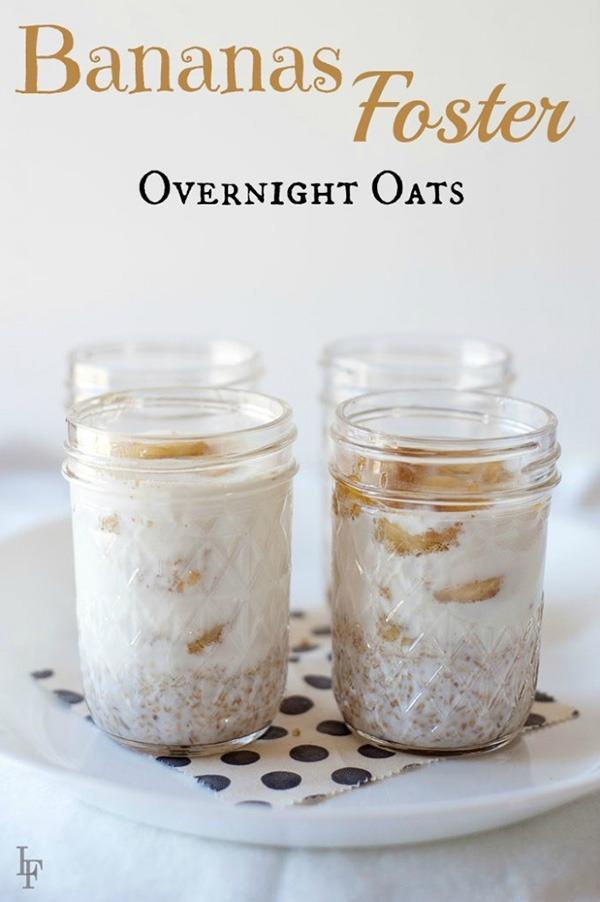 bananas foster overnight oats