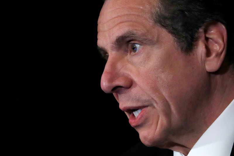 New York Governor Andrew Cuomo holds daily briefing at State Capitol during outbreak of the coronavirus disease (COVID-19) in Albany