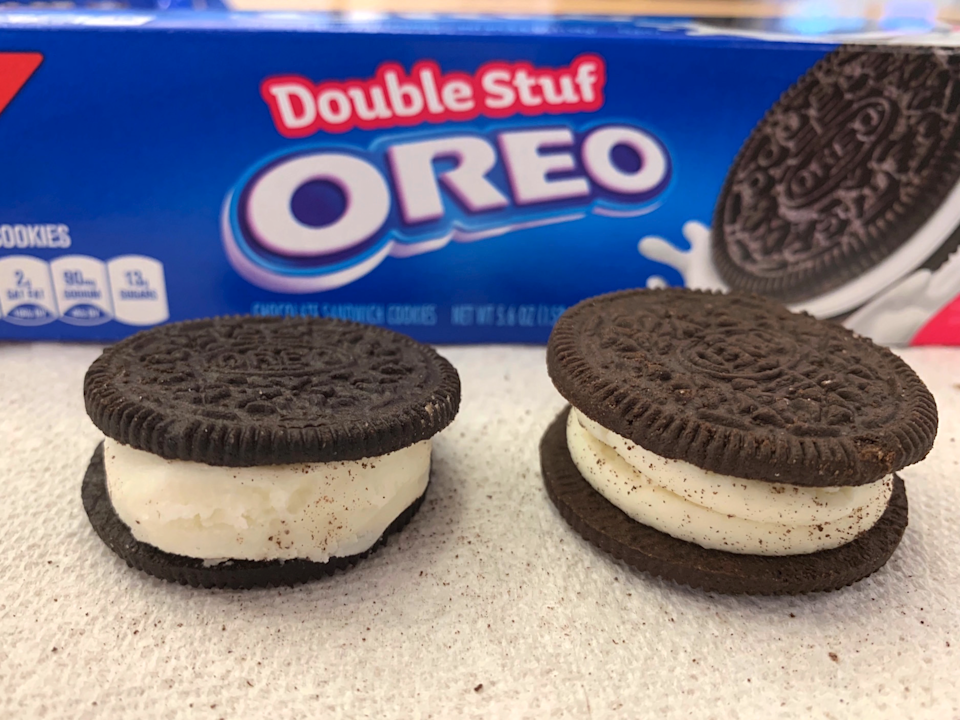 Double stuff creation oreo