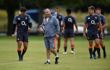 Rugby Union - England Training - London, Britain - August 7, 2017   England head coach Eddie Jones during training   Action Images via Reuters/Adam Holt