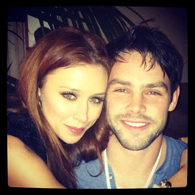 Celebrity Twitpics: The Saturdays' Una Healy and hubby Ben Foden tweeted this cute photo of themselves spending their first New Year's Eve as husband and wife. Copyright [Una Healy]