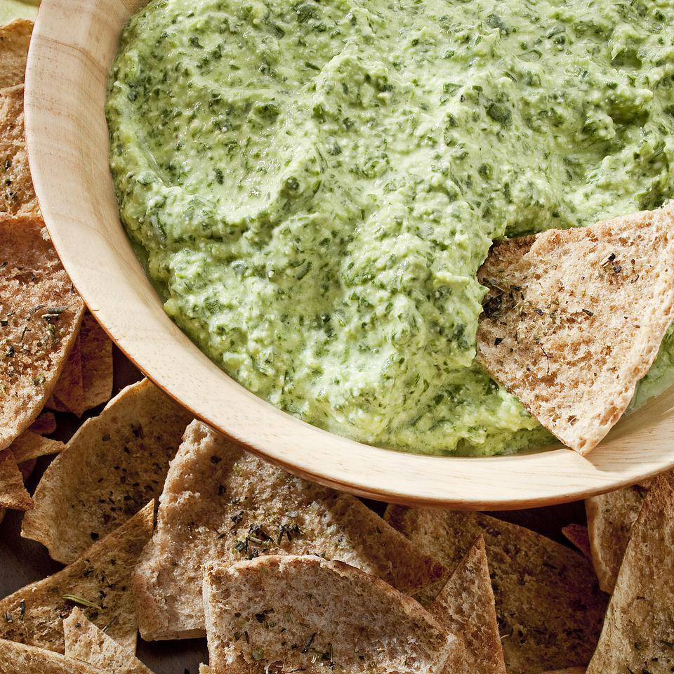 <p>Try this light spinach dip made healthier with reduced-fat cream cheese, nonfat yogurt and low-fat cottage cheese instead of full-fat cheese, mayonnaise and sour cream. It will save you a whopping 84 calories and 10 grams of fat per serving when compared to traditional versions. Serve it with pita chips and crunchy vegetables or spread it on a sandwich.</p>