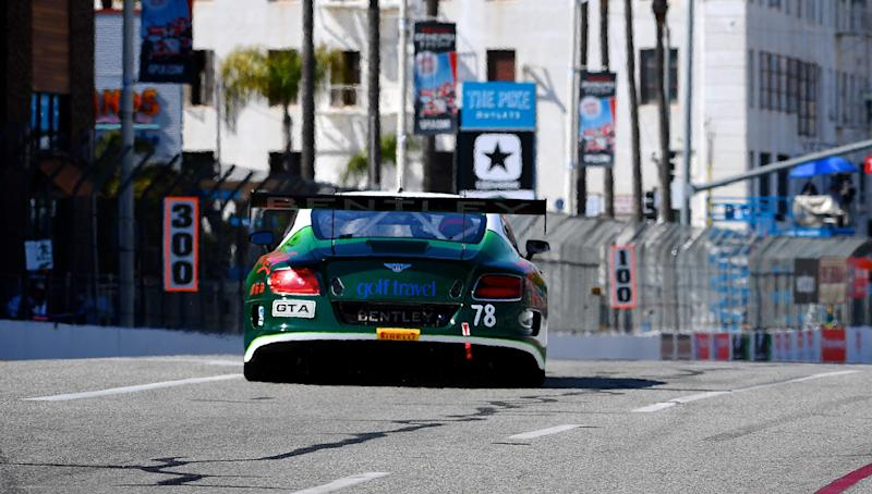 This year marks the third season for Bentley's campaign in the Pirelli World Challenge, a fiercely competitive GT3 sports car racing series in North America. At first blush, Bentley's opulent road cars look better suited to cruising down Sunset Boulevard in Beverly Hills than to rubbing fenders on the hairpin at the circuit in Long Beach, Calif.
