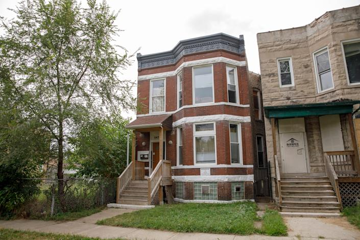 The Chicago home of Emmett Till gained landmark status Jan. 27, 2020. The two-flat Woodlawn home at 6427 S. St. Lawrence Ave – where Till moved with his mother, Mamie Till-Mobley, and her husband when he was 10 years old – is pictured on Aug. 20, 2018.