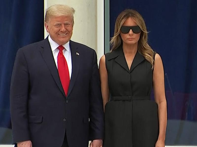 Melania and Donald Trump at St Johns church on Monday: (The Recount - Twitter)