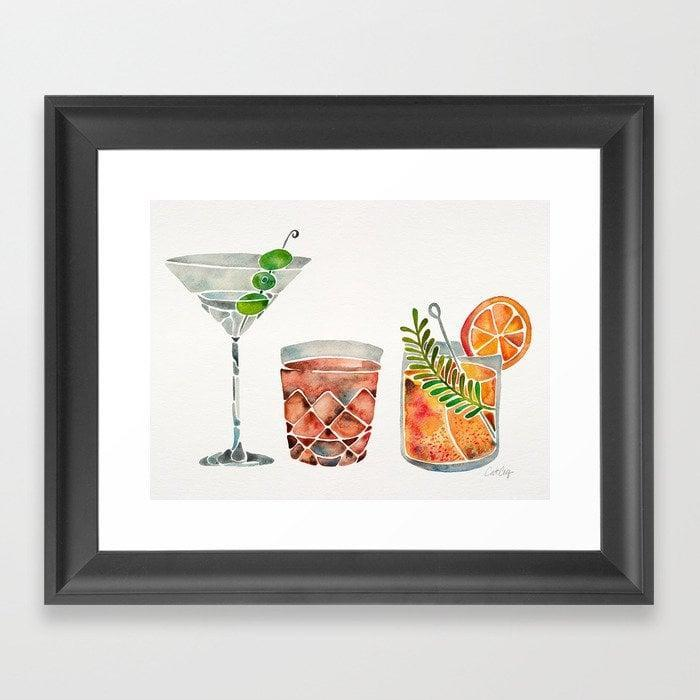 <p>For the friend who loves to entertain, this <span>Classic Cocktails Framed Art Print</span> ($30, originally $50) will make a great addition to their living room.</p>