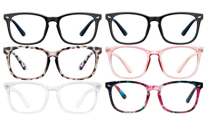 These blue light blocking glasses are perfect for the educator that teaches remotely through a screen.