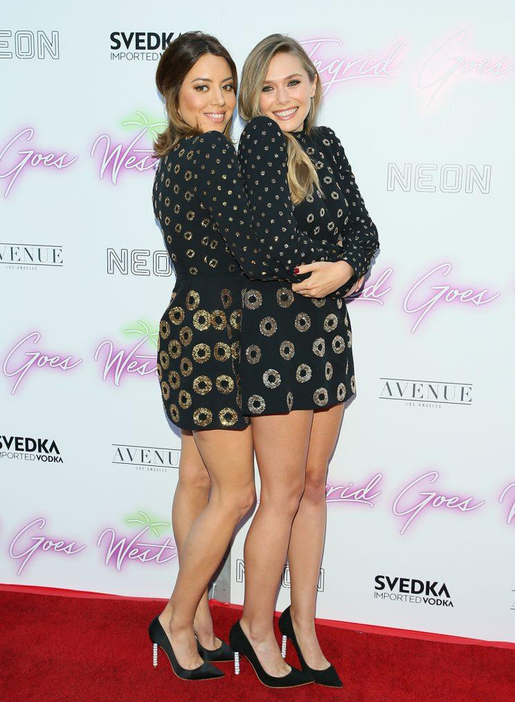 Aubrey Plaza and Elizabeth Olsen attend the premiere of Neon's 'Ingrid Goes West' on July 257 2017 in Hollywood, California. (Photo: Getty Images)
