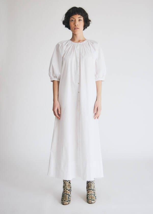 """<br> <br> <strong>Staud</strong> Vincent Cotton Poplin Dress, $, available at <a href=""""https://go.skimresources.com/?id=30283X879131&url=https%3A%2F%2Fneedsupply.com%2Fvincent-cotton-poplin-dress-in-white%2FWPF13766.html%23%26gid%3D1%26pid%3D1"""" rel=""""nofollow noopener"""" target=""""_blank"""" data-ylk=""""slk:Need Supply"""" class=""""link rapid-noclick-resp"""">Need Supply</a>"""