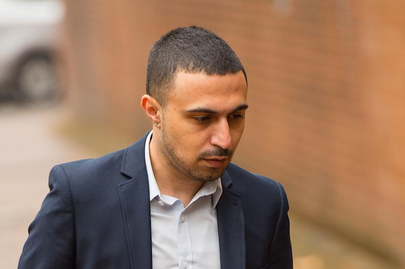 Actor Adam Deacon arriving at Hammersmith Magistrate's Court, London, where he is accused of posting abusive and threatening messages on social media relating to actor Noel Clarke.