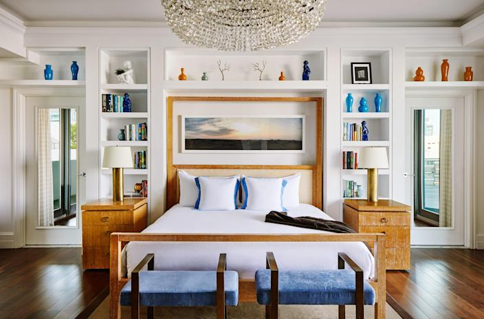 """Reopening this month, <a href=""""https://www.thebetsyhotel.com/"""" rel=""""nofollow noopener"""" target=""""_blank"""" data-ylk=""""slk:The Betsy"""" class=""""link rapid-noclick-resp"""">The Betsy</a>, South Beach, is a family-owned boutique hotel made for long luxurious stays. Every room has a private entrance, which eliminates the need for elevators and common areas and helps to keep guests socially distanced. Their long-term package offers a 30% discount on the regular rate (rooms start at $276 per night). Amenities include rooftop yoga, Peloton spin classes, spa access, and a revolving set of private, one-of-a-kind experiences such as a mixology tutorial or pizza-making class. For more information on the U.S.'s evolving COVID-19 travel protocols, visit <a href=""""https://www.cdc.gov/coronavirus/2019-ncov/travelers/from-other-countries.html"""" rel=""""nofollow noopener"""" target=""""_blank"""" data-ylk=""""slk:www.cdc.gov"""" class=""""link rapid-noclick-resp"""">www.cdc.gov</a>."""