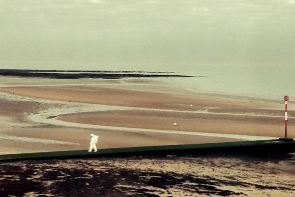 Astronaut spotted on beach in Margate