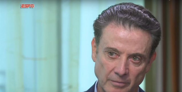 Rick Pitino during his ESPN interview on Thursday. (Screengrab ESPN)