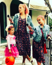 """<p>This year, the <em>Cougar Town</em> alum's elder daughter <a rel=""""nofollow"""" href=""""https://www.yahoo.com/beauty/busy-philippss-daughter-dresses-halloween-hilarious-215307783.html"""" data-ylk=""""slk:dressed like her for Halloween;outcm:mb_qualified_link;_E:mb_qualified_link;ct:story;"""" class=""""link rapid-noclick-resp yahoo-link"""">dressed like her for Halloween</a>. So for trick-or-treating, mom and daughter twinned. (Photo: Busy Philipps via Instagram) </p>"""