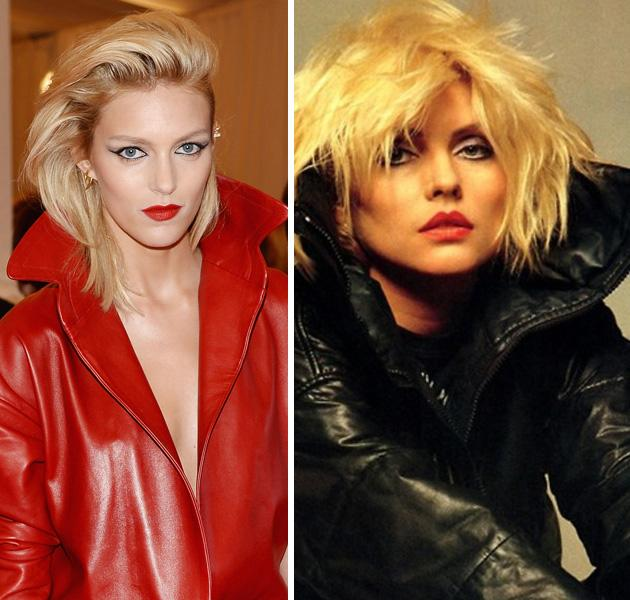 "<div class=""caption-credit""> Photo by: Getty Images</div><div class=""caption-title""></div><b>Anja Rubik vs. Debbie Harry</b> <br> Who didn't (doesn't?) want Debbie's edgy, sexy appeal? Her chic peroxide blond hair, smudged eyeliner, red lips, and tough leather jackets are not just punk, they're classic. Polish model Anja Rubik does the punk princess justice in a look we love. <br>"