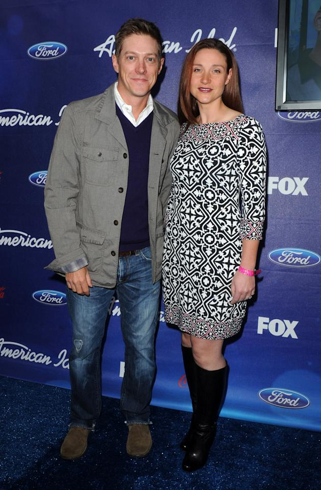 """Kevin Rahm of """"<a href=""""http://tv.yahoo.com/i-hate-my-teenage-daughter/show/47413"""">I Hate My Teenage Daughter</a>"""" and his date attend the Season 11 """"<a href=""""http://tv.yahoo.com/american-idol/show/34934"""">American Idol</a>"""" Top 13 Finalists Party on Thursday, March 1 at The Grove in Los Angeles, CA."""