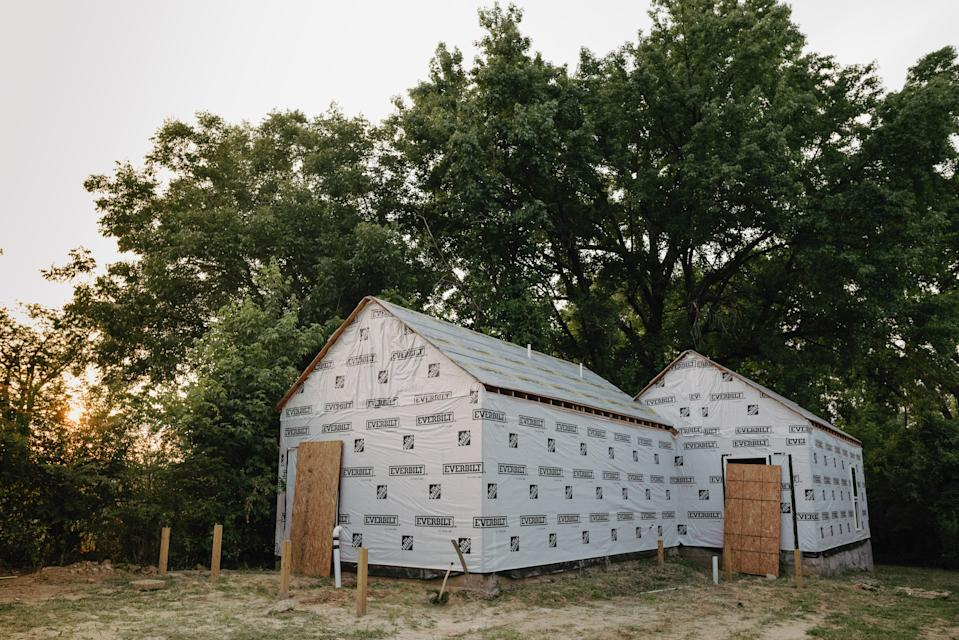 The duplex under construction. It will soon become two homes for trans women in Memphis.