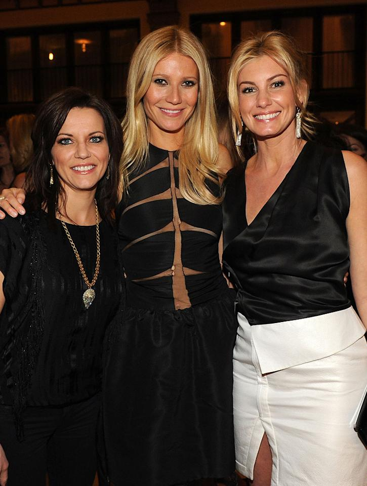 "<a href=""http://movies.yahoo.com/movie/contributor/1802470470"">Martina McBride</a>, <a href=""http://movies.yahoo.com/movie/contributor/1800018601"">Gwyneth Paltrow</a> and <a href=""http://movies.yahoo.com/movie/contributor/1800330125"">Faith Hill</a> attend the Nashville premiere of <a href=""http://movies.yahoo.com/movie/1810133348/info"">Country Strong</a> on November 8, 2010."