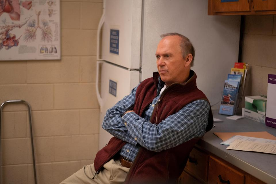 """Michael Keaton plays a small-town Appalachian doctor in Hulu's """"Dopesick,"""" a fictionalized retelling of the rise of the opioid epidemic in America."""